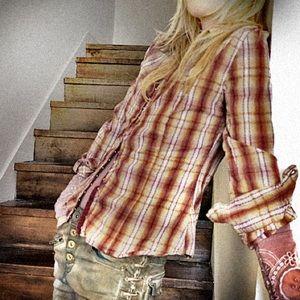Buckle Daytrip soft plaid shirt M